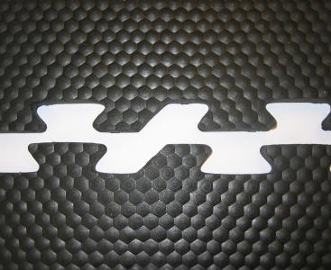 Rubber puzzelmat stalvloer
