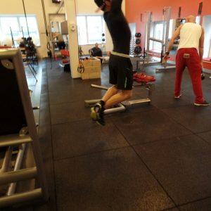 Rubber fitness vloer