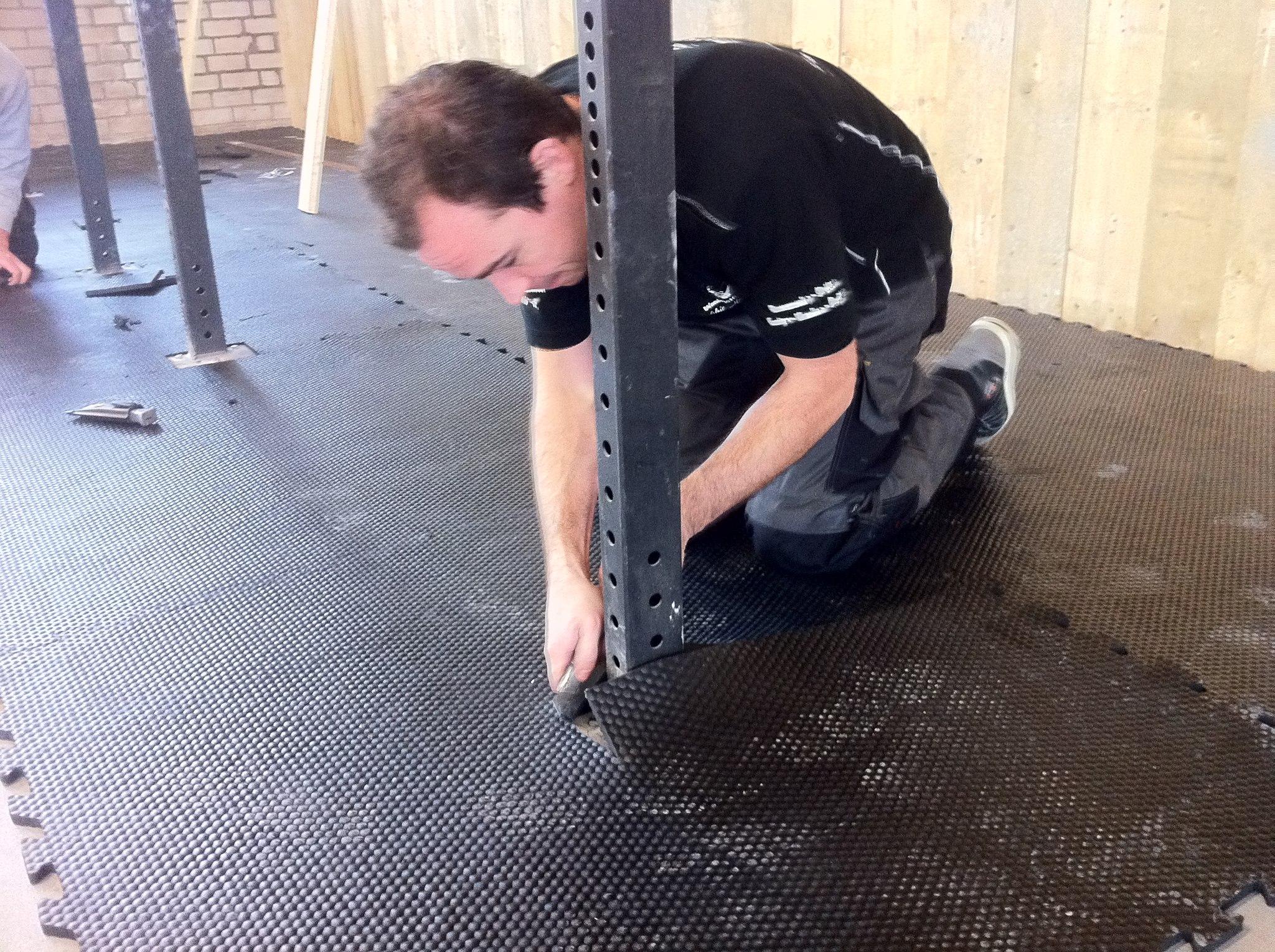sportvloeren van rubber voor fitness crossfit