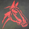 Entree mat 'Horse Head Red'